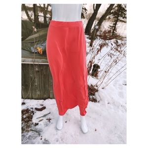 Coral Maxi Skirt Stretch Knit Casual Basic Summer